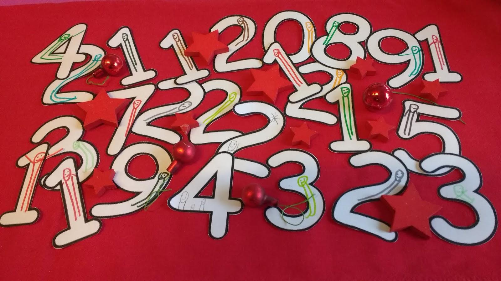 alle Zahlen von 1 bis 24 mit Nixklusionsmännchen